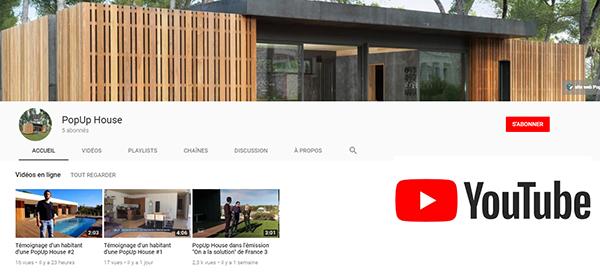 Chaîne youtube popup house