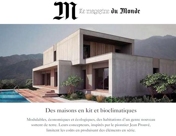 Des Maisons En Kit Et Bioclimatiques Via Le Monde Popup House