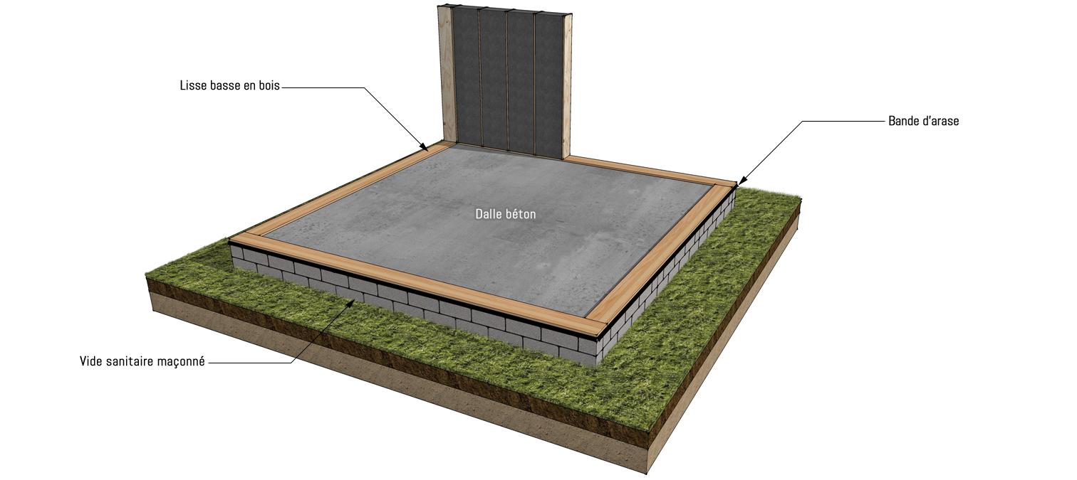 Fondation dalle béton : maison bois sur-mesure