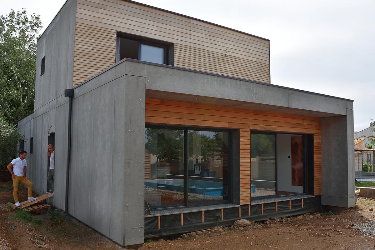 une maison bois moderne en occitanie
