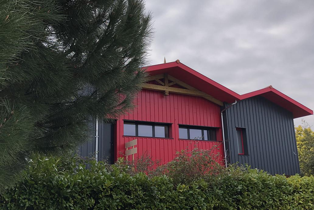 extérieur maison bois passive arcachon