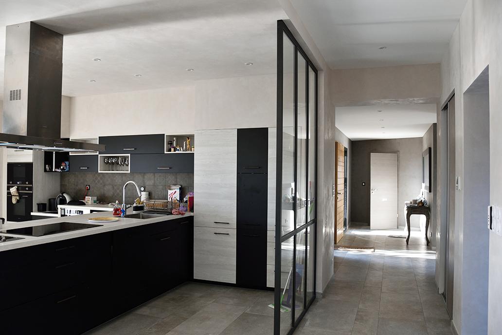 intérieur maison bois architecte