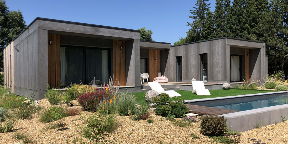 contemporary wooden house st remy exterior