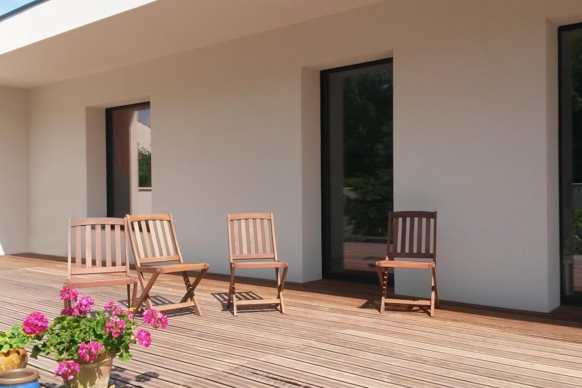 contemporary wooden frame house la rochelle popup house exterior