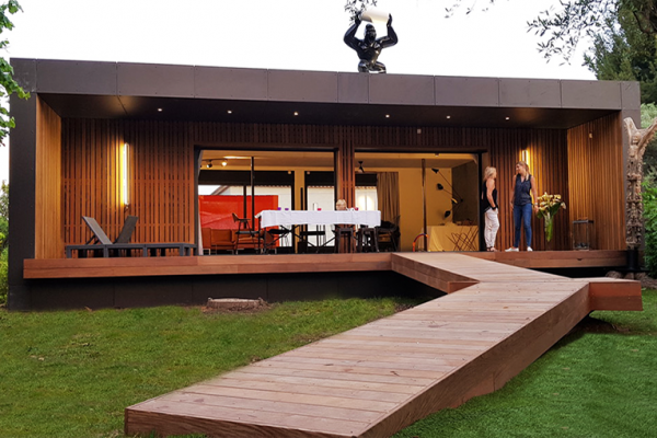 design wooden frame house st cyr exterior
