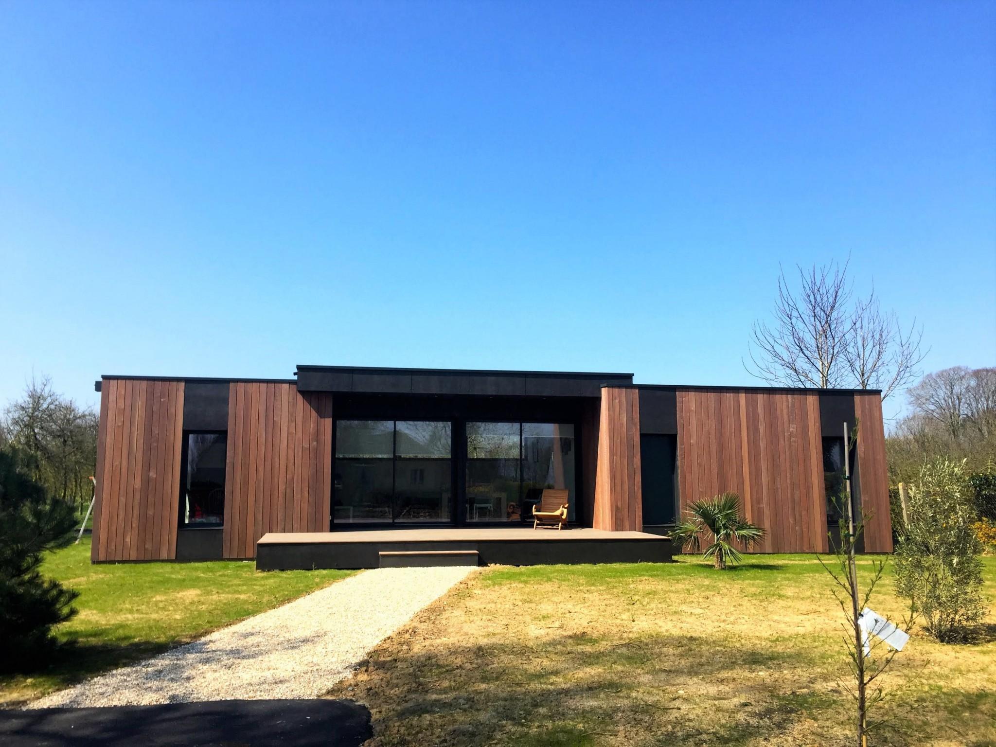maison 110 m en normandie popup house. Black Bedroom Furniture Sets. Home Design Ideas