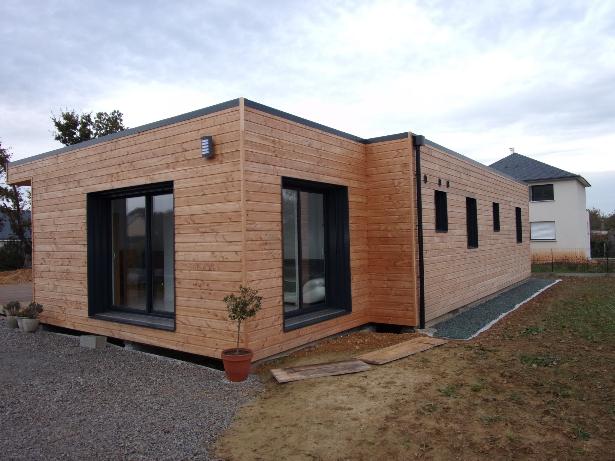 Maison 126 m en bretagne popup house for Extension maison pop up