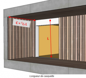 length of an overhang in a bioclimatic house | PopUp House