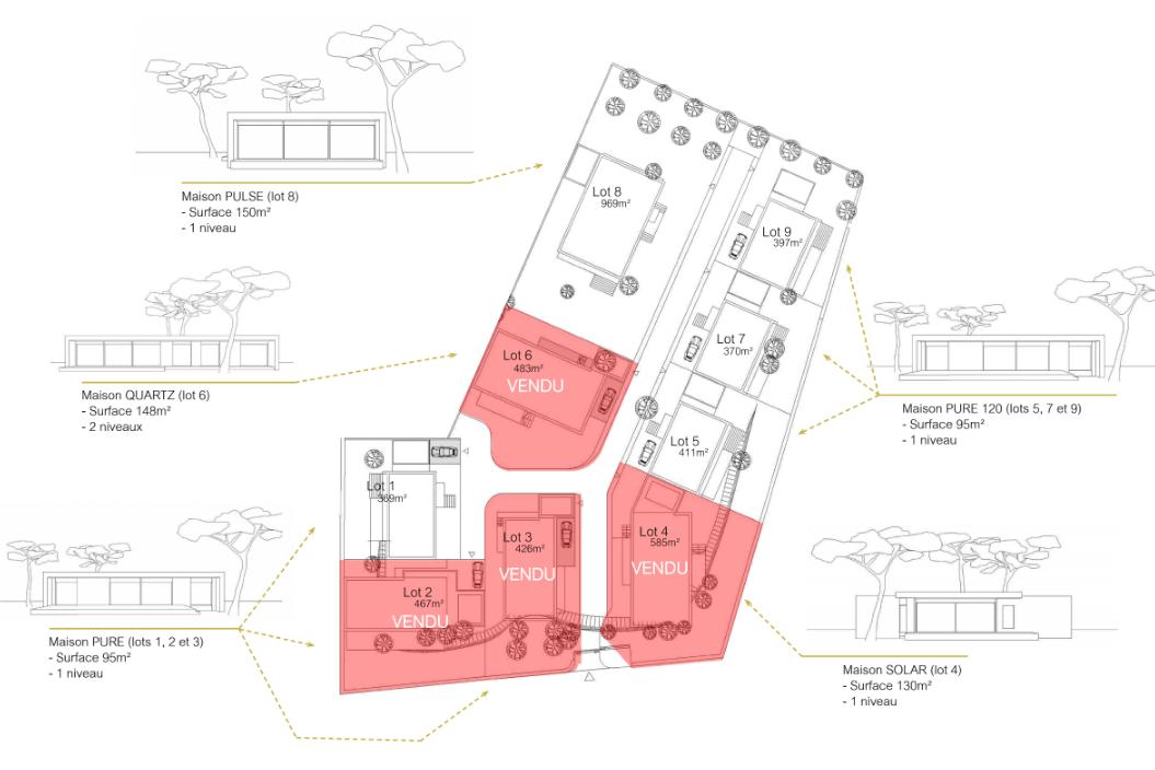 Lots à acquérir écoquartier maisons design