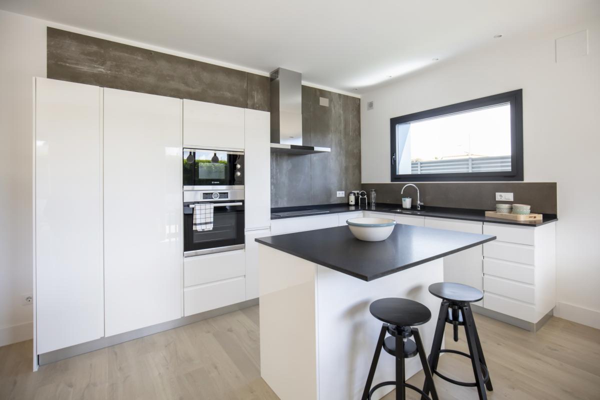cuisine #2 maison passive moderne en bois costa brava
