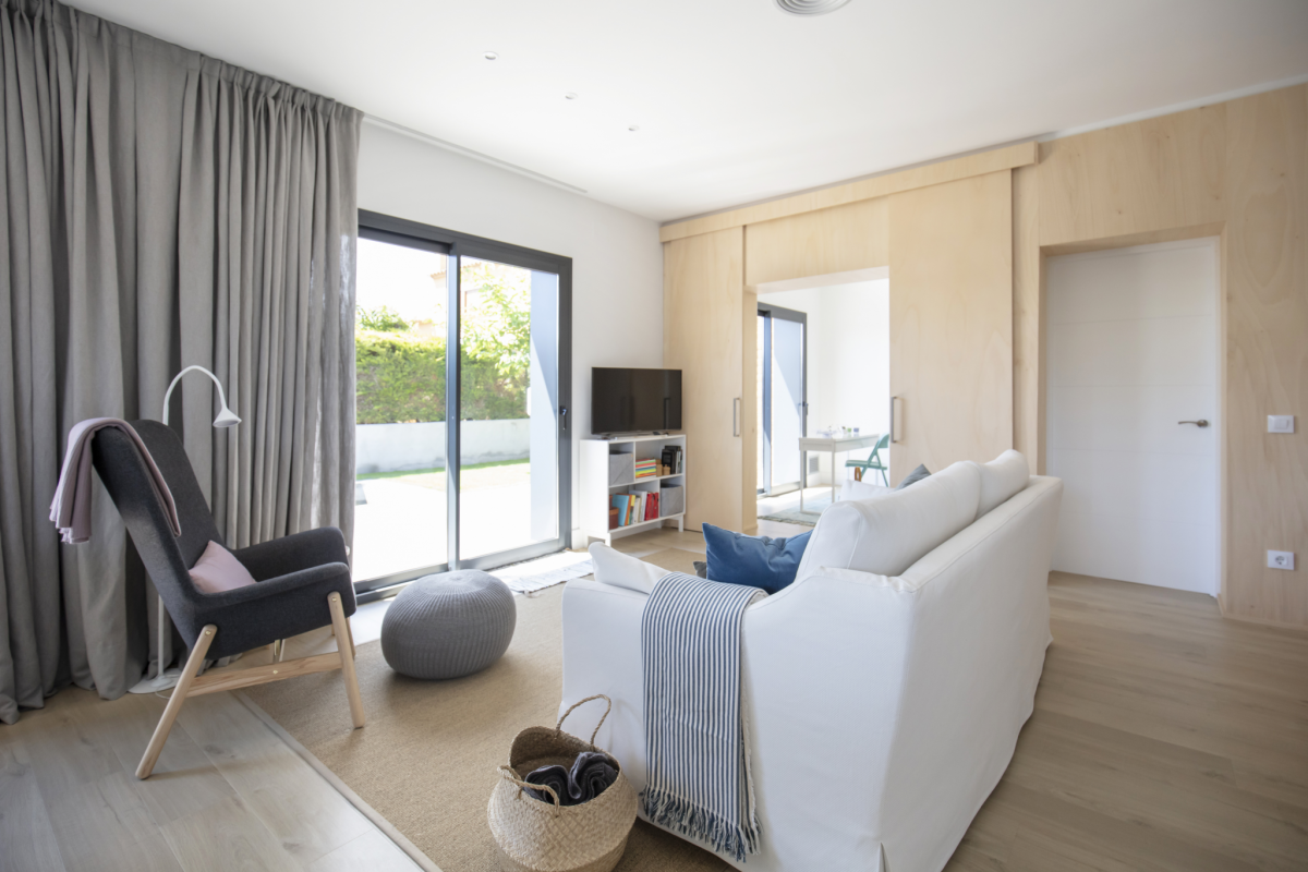 salon #3 maison passive moderne en bois costa brava