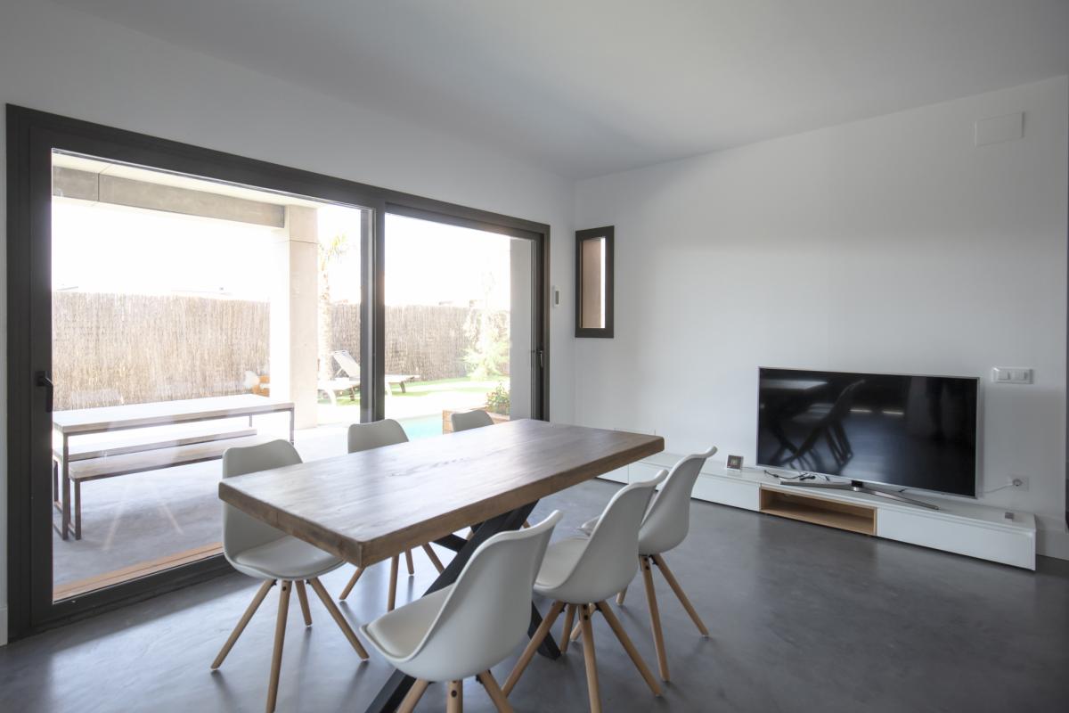 salon #2 maison passive moderne en bois espagne