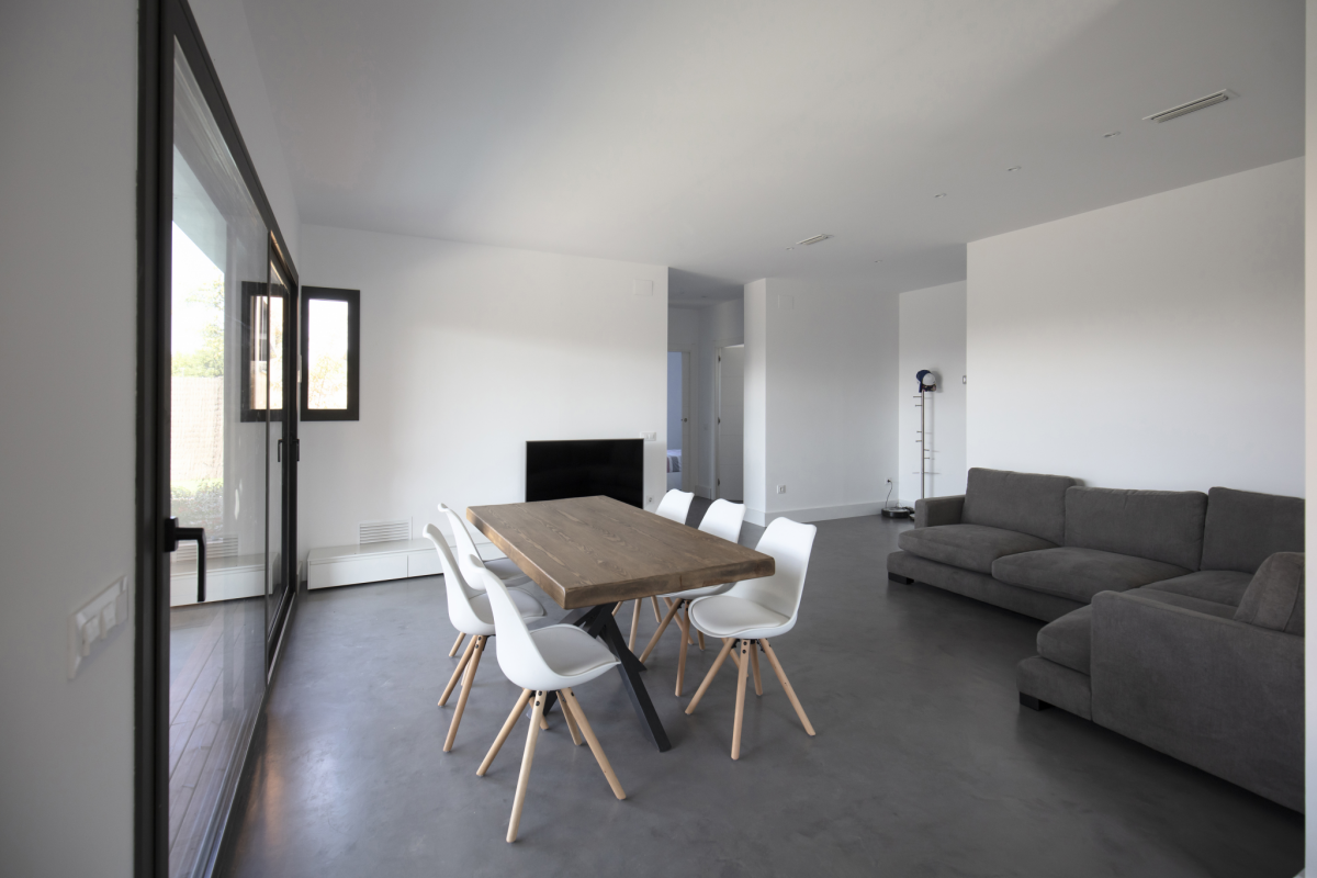 salon maison passive moderne en bois espagne