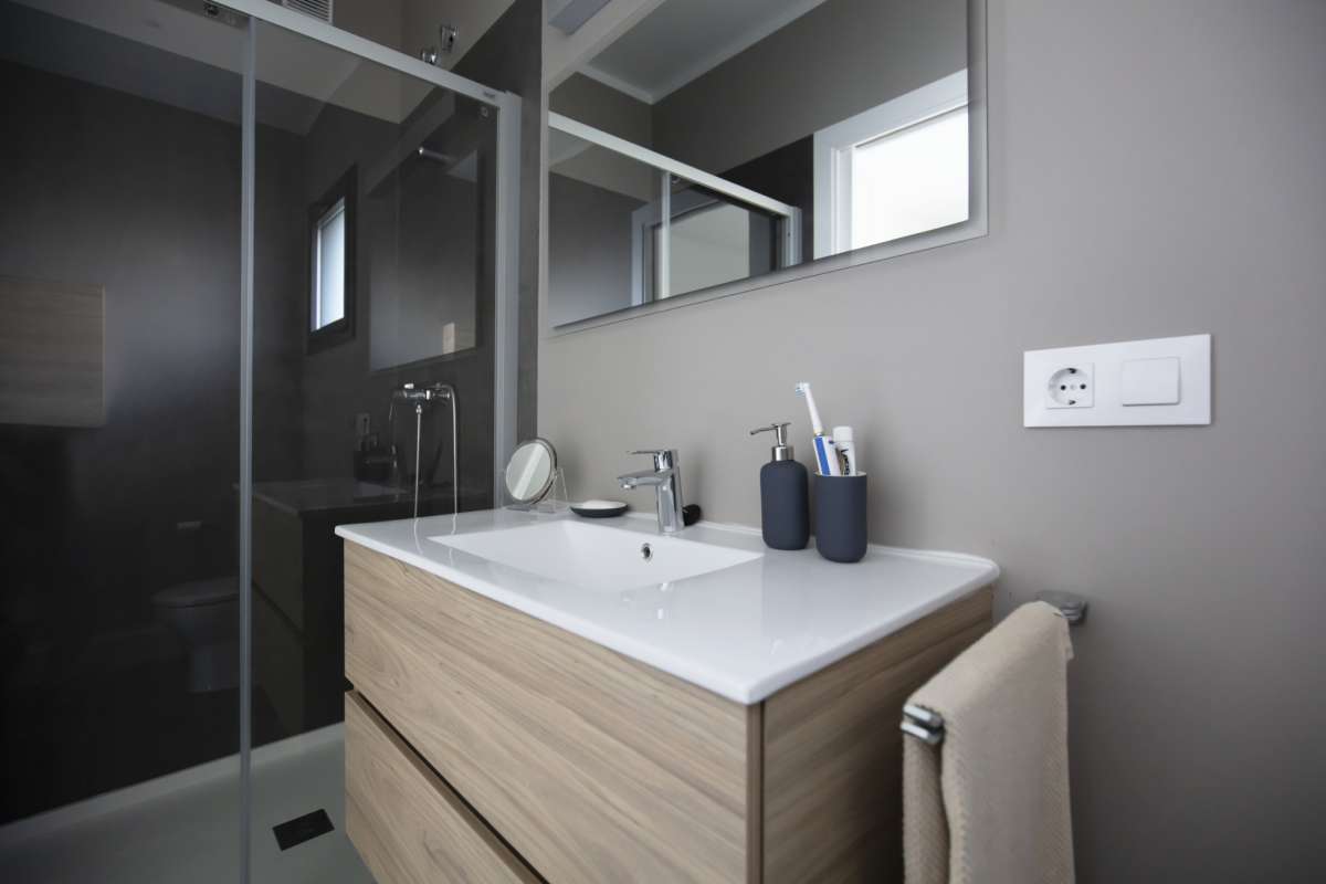 salle de bain #3 maison passive moderne en bois costa brava