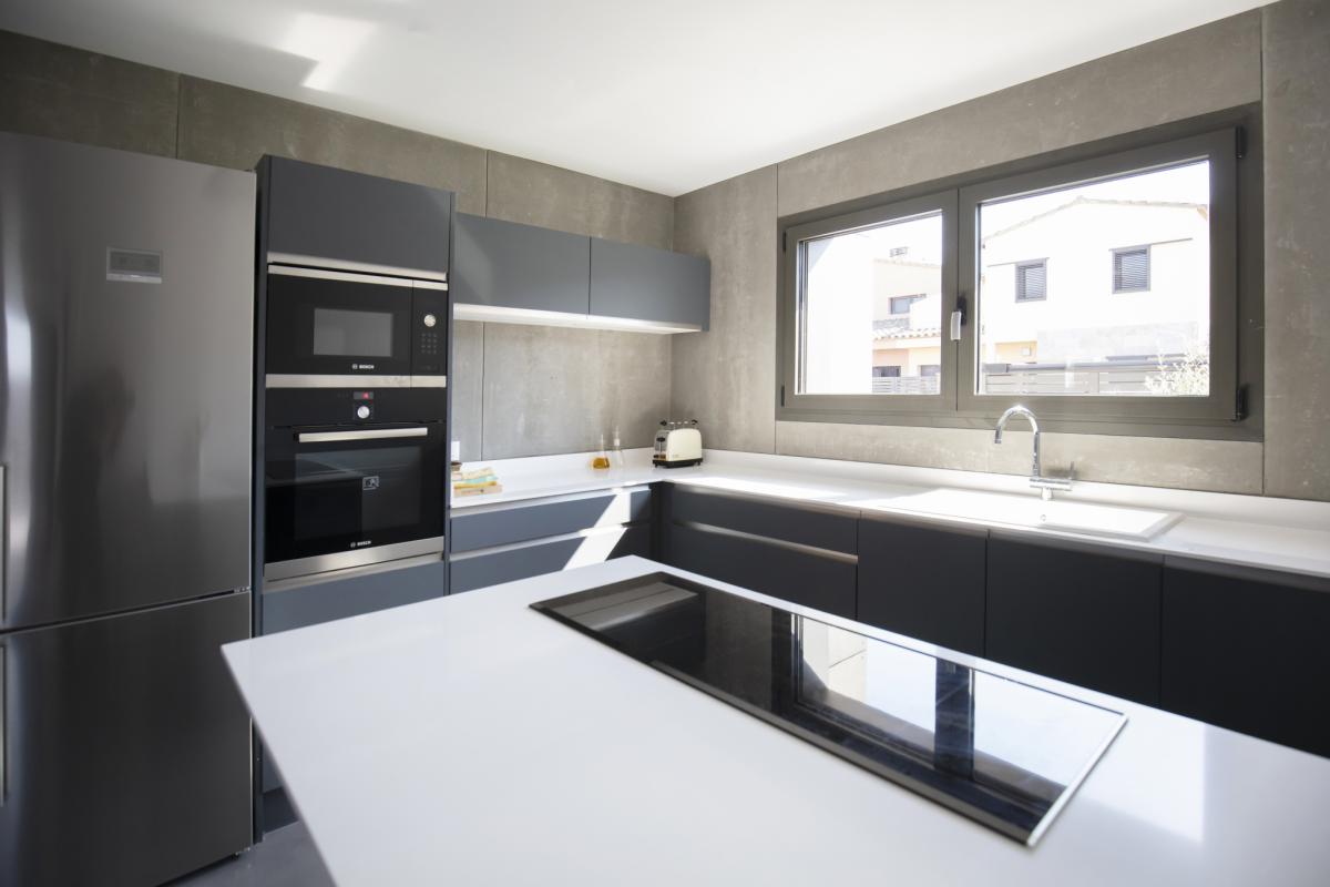 cuisine maison passive moderne en bois espagne
