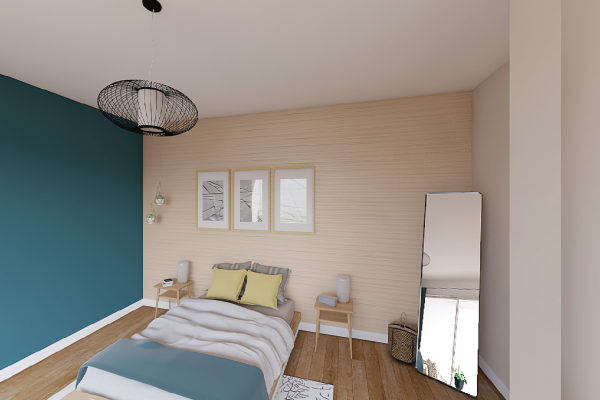 contemporary bedroom popup house