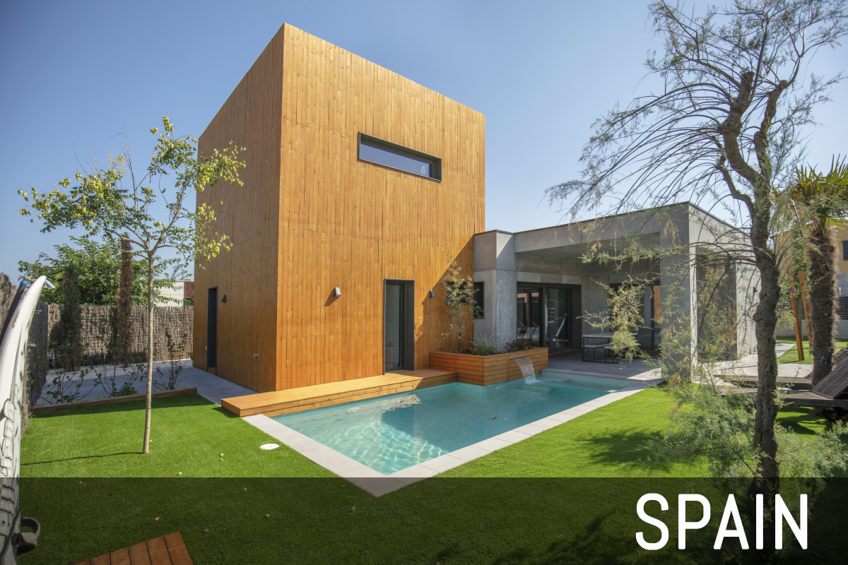 Our PopUp passive houses abroad